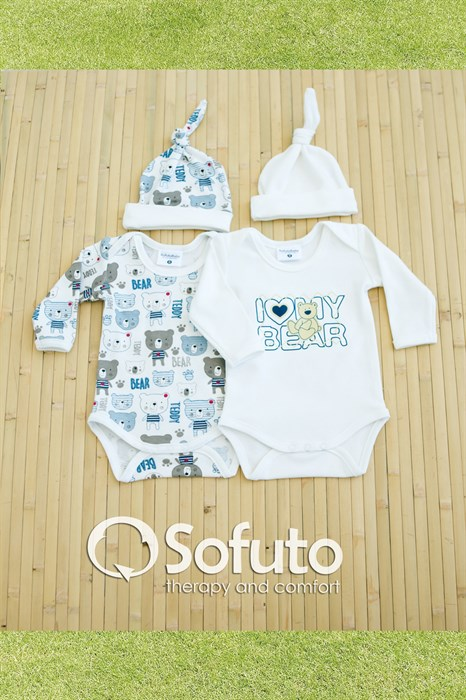 Комплект боди (4 предмета) Sofuto baby teddy - фото 6857