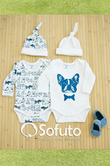 Комплект боди (4 предмета) Sofuto baby dogs - фото 6859