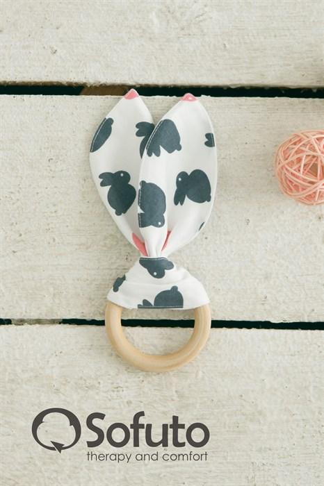 Прорезыватель Sofuto baby Милые ушки Rabbit - фото 6931