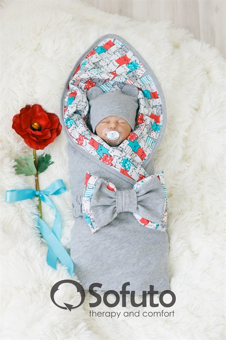 Комплект на выписку летний (5 предметов) Sofuto baby Kotyki - фото 7271