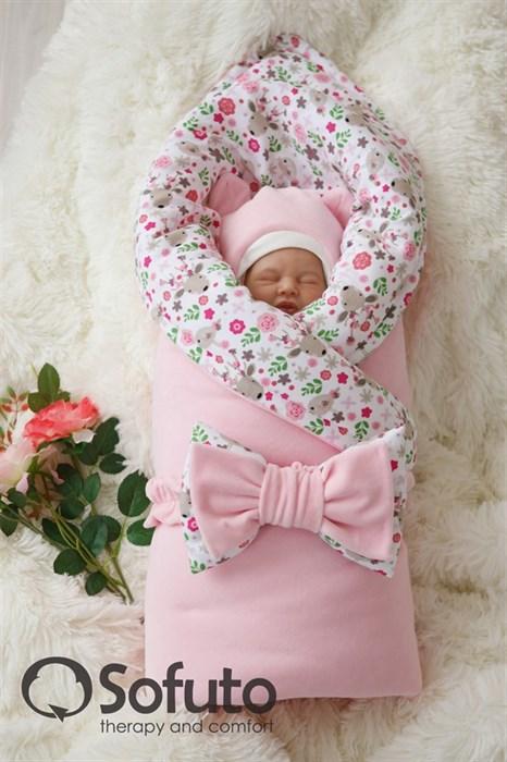 Комплект на выписку демисезонный (7 предметов) Sofuto baby Flowers - фото 7382