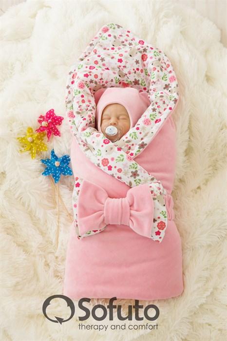 Комплект на выписку холодное лето (6 предметов) Sofuto baby Flowers - фото 7546