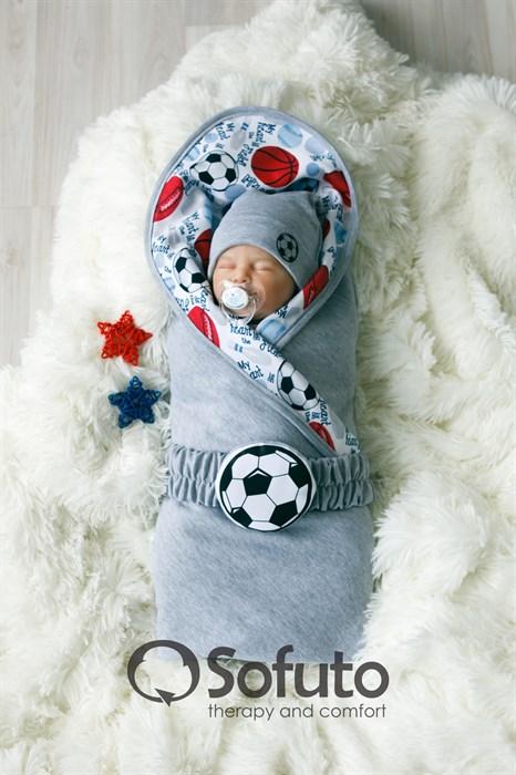 Комплект на выписку жаркое лето (5 предметов) Sofuto baby Football - фото 7649