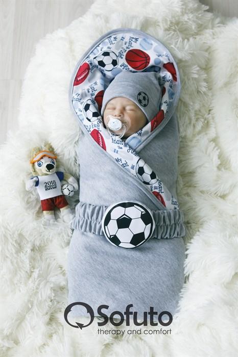 Комплект на выписку летний (5 предметов) Sofuto baby Football - фото 7664