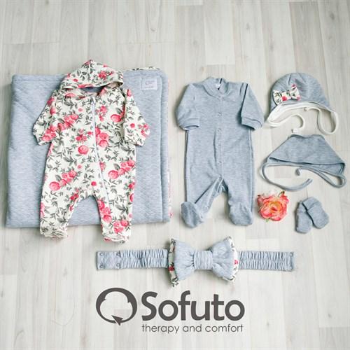 Комплект на выписку холодное лето plus  (7 предметов) Sofuto baby Vintage - фото 7714