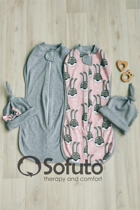 Комплект пеленок Sofuto Swaddler Pink rabbit - фото 7798