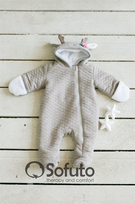 Комбинезон стеганый утеплённый на молнии Sofuto baby Faline - фото 8026