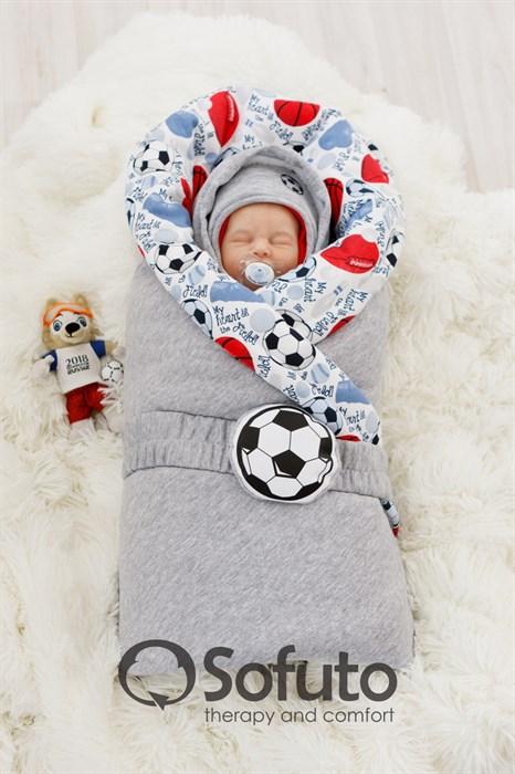 Комплект на выписку холодная зима (7 предметов) Sofuto baby Football - фото 8172