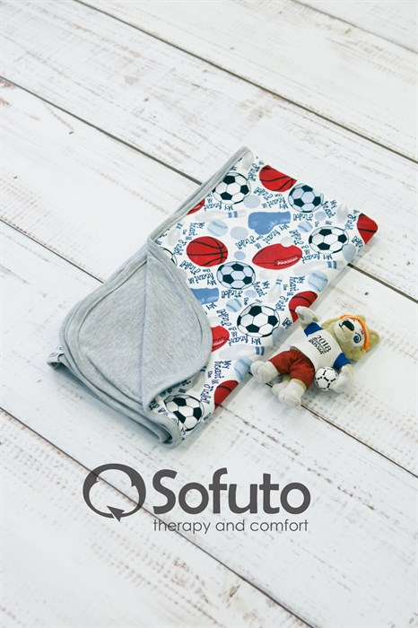Двухсторонний плед Sofuto Swaddler Football - фото 8361