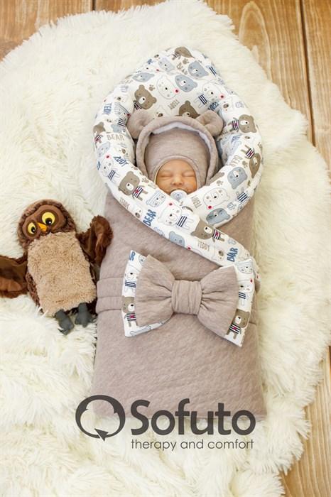 Комплект на выписку холодная зима (7 предметов) Sofuto baby Teddy - фото 8611