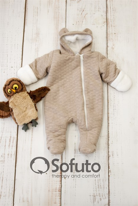 Комбинезон утеплённый на молнии Sofuto baby Teddy - фото 8647