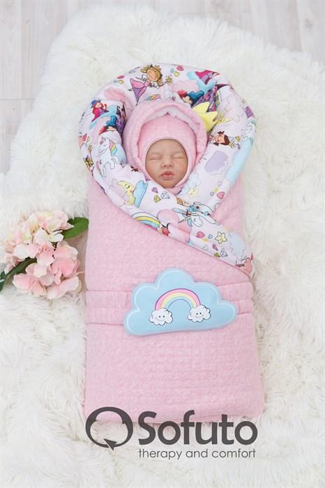 Комплект на выписку холодная зима (6 предметов) Sofuto baby magic Kingdom - фото 9001