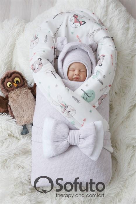 Комплект на выписку холодная зима (6 предметов) Sofuto baby forest Indians - фото 9147