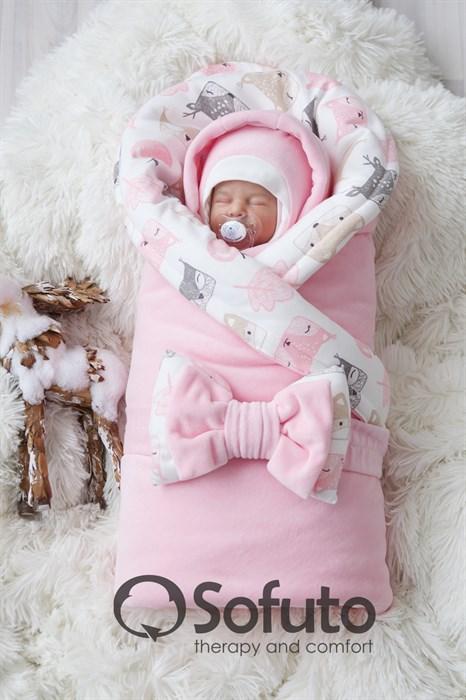 Комплект на выписку холодная зима (6 предметов) Sofuto baby Squirrel - фото 9388