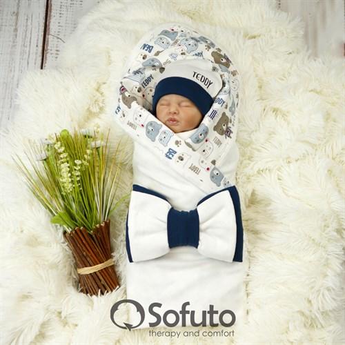 Комплект на выписку летний (4 предмета) Sofuto baby Teddy - фото 9709