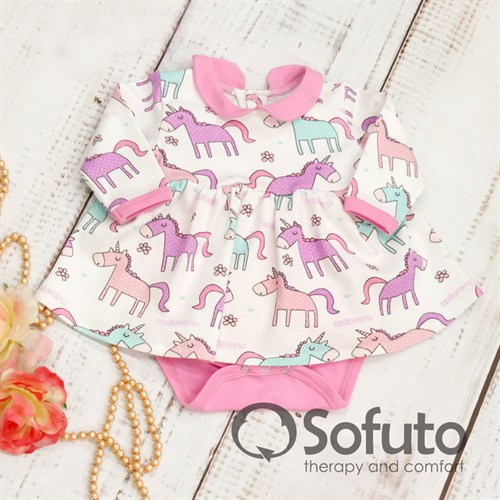 Боди детское с юбочкой Sofuto baby unicorn - фото 9935