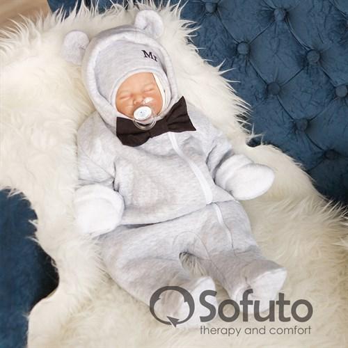 Комбинезон утеплённый на молнии Sofuto baby Mr Bear - фото 9957