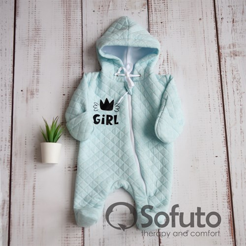 Комбинезон стеганый на подкладе Sofuto baby Little girl - фото 9964