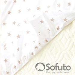 Простынь на резинке Sofuto Babyroom Latte