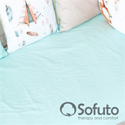 Простынь на резинке Sofuto Babyroom Mint