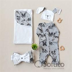 Комплект на выписку летний (4 предмета) Sofuto baby Rabbit