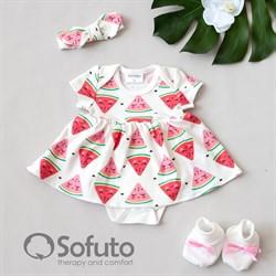 Комплект из боди-платья  с аксессуарами Sofuto baby Watermelon