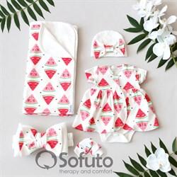 Комплект на выписку жаркое лето (5 предметов) Sofuto baby Watermelon