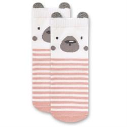 "Носочки 1 пара ""Медвежонок Макс"" трикотаж розовый"