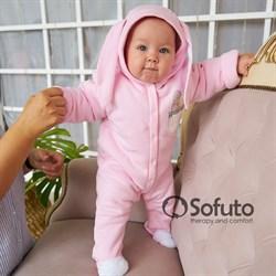Комбинезон-теплушка Sofuto baby Bunny pink
