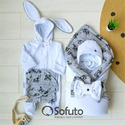 Комплект на выписку зимний (6 предметов) Sofuto baby Rabbit