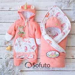 Комплект на выписку холодная зима (6 предметов) Sofuto baby Sweet Unicorn