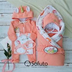 Комплект на выписку демисезонный (6 предметов) Sofuto Sweet Unicorn