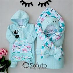Комплект на выписку демисезонный (6 предметов) Sofuto Little girl