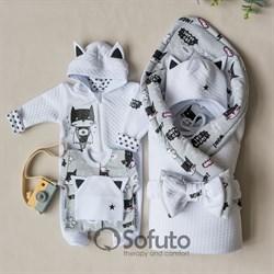 Комплект на выписку холодное лето plus (6 предметов) Sofuto Supercat