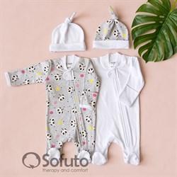 Набор слипов на молнии Sofuto baby Panda