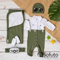 Комплект на выписку летний (5 предметов) Sofuto baby Aviator