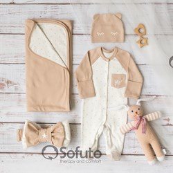Комплект на выписку летний (4 предмета) Sofuto baby Milky