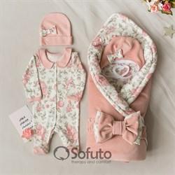 Комплект на выписку холодное лето (6 предметов) Sofuto baby Vintage poudre