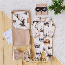 Комплект на выписку летний (4 предмета) Sofuto baby Banda