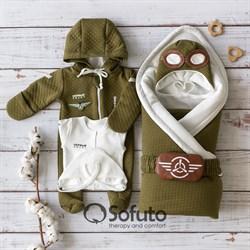 Комплект на выписку демисезонный (6 предметов) Sofuto Aviator