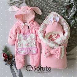 Комплект на выписку холодная зима (6 предметов) Sofuto baby Balerina