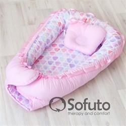 Кокон-гнездышко Sofuto Babynest Unicorn