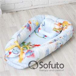 Кокон-гнездышко Sofuto Babynest Little prince