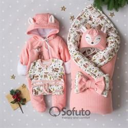 Комплект на выписку холодная зима (6 предметов) Sofuto baby Bambi