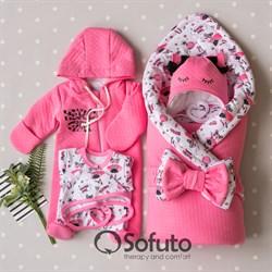 Комплект на выписку демисезонный (6 предметов) Sofuto baby Super girl