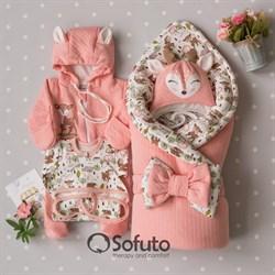Комплект на выписку демисезонный (6 предметов) Sofuto baby Bambi