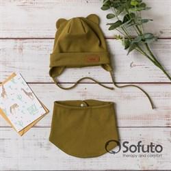 Комплект шапка+снуд Sofuto Urban Khaki