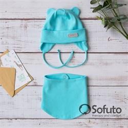 Комплект шапка+снуд Sofuto Urban Aqua