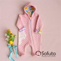 Комбинезон стеганый на молнии Sofuto baby Rosa Dior