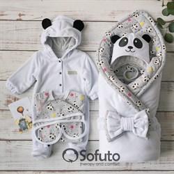 Комплект на выписку демисезонный (6 предметов) Sofuto baby magic Panda